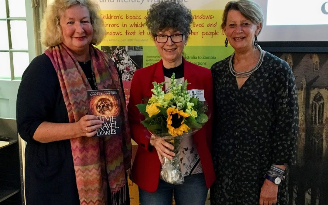 IBBY AGM 2019 with guest Caroline Lawrence